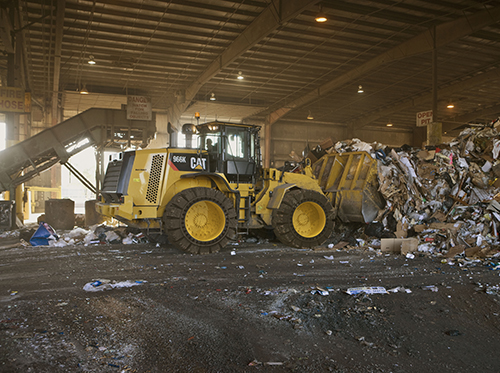 Loader at a Transfer Station