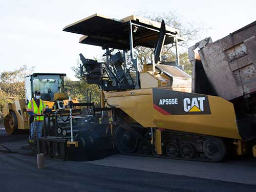 Cat paving rental equipment