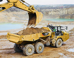 Rent Cat dump trucks to save time and money.